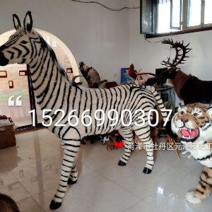 自然纹理斑马模型高仿生斑马体态展现